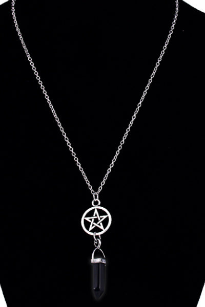 Pentagram Onyx Crystal Necklace