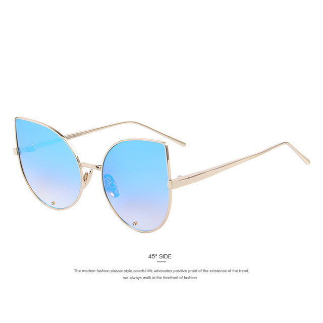 Woman's Mirrored Cat Eye Sunglasses