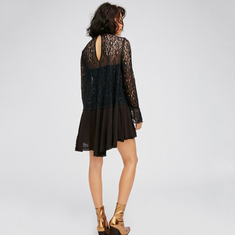 Earth Witch Black Lace Dress