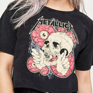 Metallica Crop Top Tee Shirt