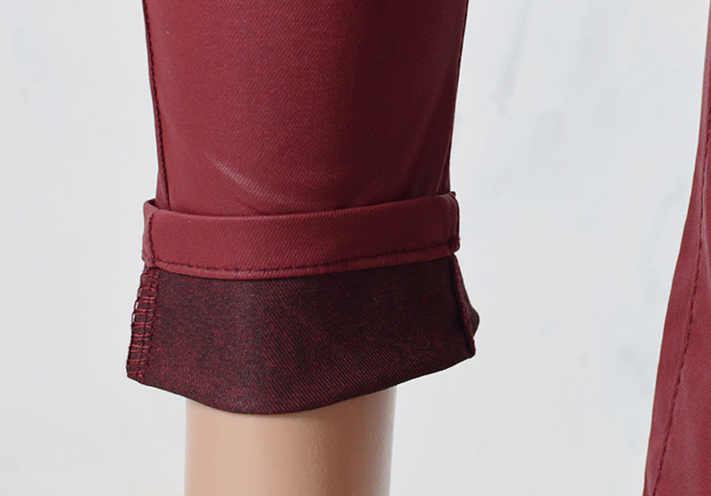 Andromeda High Waist Red Vegan Leather Pant