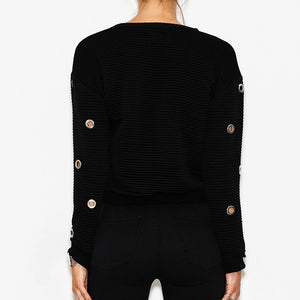 Lace up Eyelet Sweater