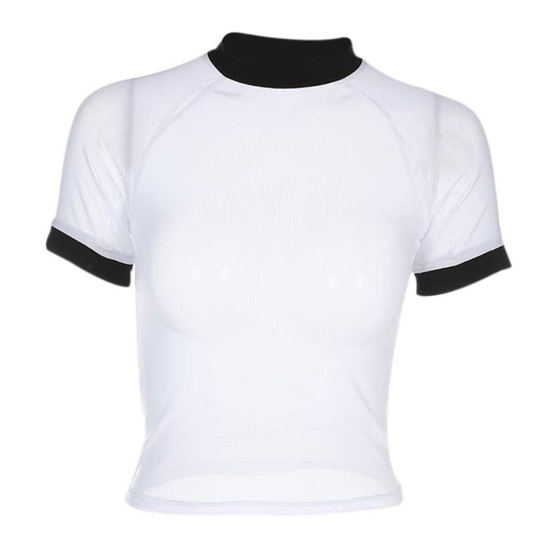 Mass Mesh Black and White Short Sleeve Tee