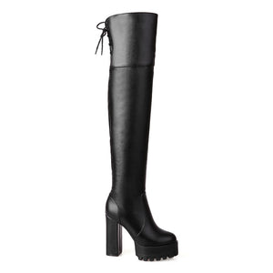 Electra Vegan Leather OTK Platform Boot