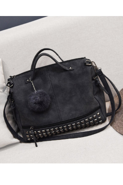 Vegan Leather Studded Purse