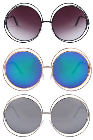 Psychedelic Witch Round Sunglasses