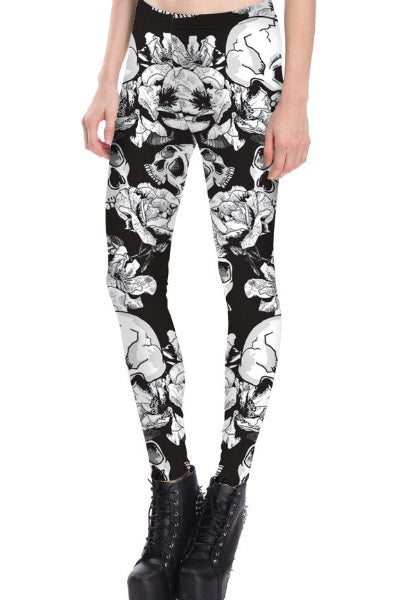 Sweet Death Black and White Leggings
