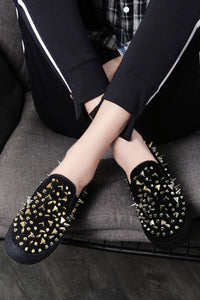 Hell Bound Spiked Slip On Sneakers