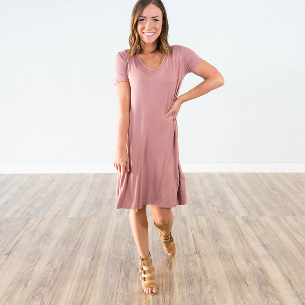 Harper Dress in Mauve