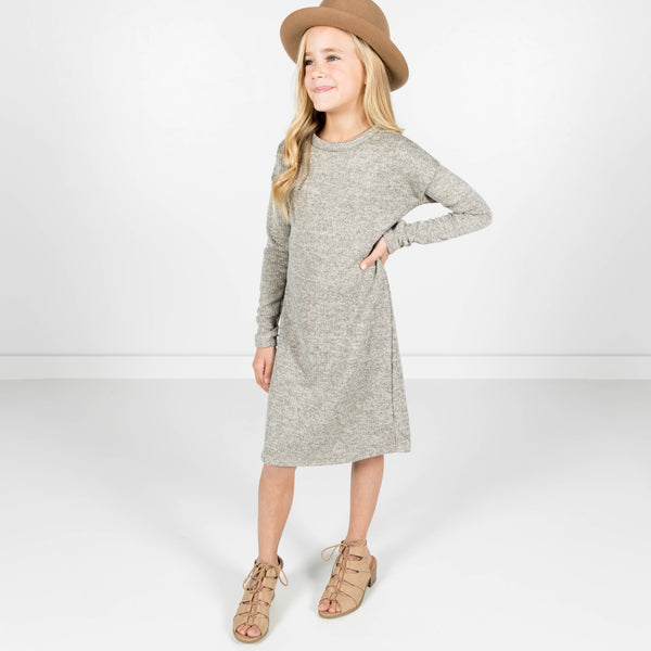 Havena Basic Dress in Gray
