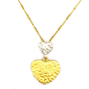 Double Heart Girlfriend Necklace