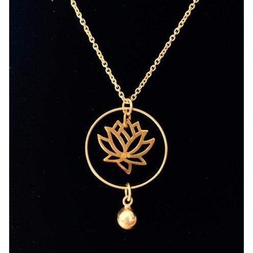 Silver lotus necklace sterling silver circle jewelry gold lotus silver lotus necklace sterling silver circle jewelry gold lotus necklace lotus jewelry mozeypictures Choice Image