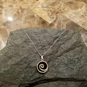 Sterling Silver Spiral Swirl Necklace