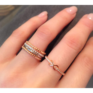 Rose Gold Beaded Stacking Ring