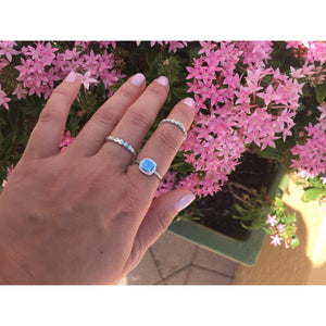 Blue Opal Ring or White Opal Promise Ring