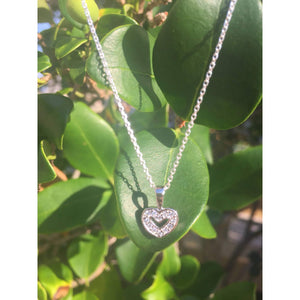 Tiny CZ Heart Necklace