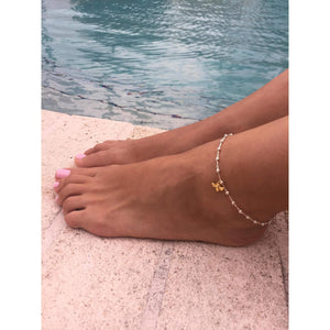 Gold Bee Ankle Bracelet
