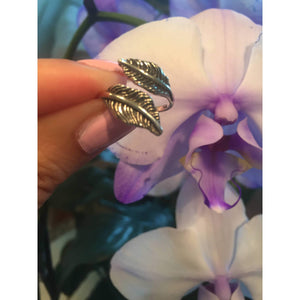 Feather Ring-Sterling Silver Leaf Ring