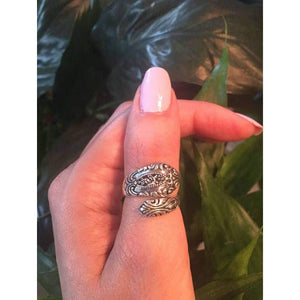 Sterling Silver Victorian Spoon Ring