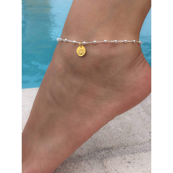 charm anklet beach jewelry layers shegrace sterling silver gold sandal dp barefoot rose bead