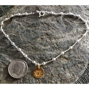 Gold Lotus Lower Anklet