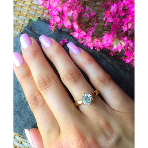Diamond 1 1/2 carat Engagement Ring