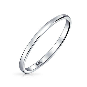 Sterling Silver Band Stacking Ring