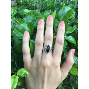 Celtic Knot Ring | Sterling Silver Black Onyx Ring