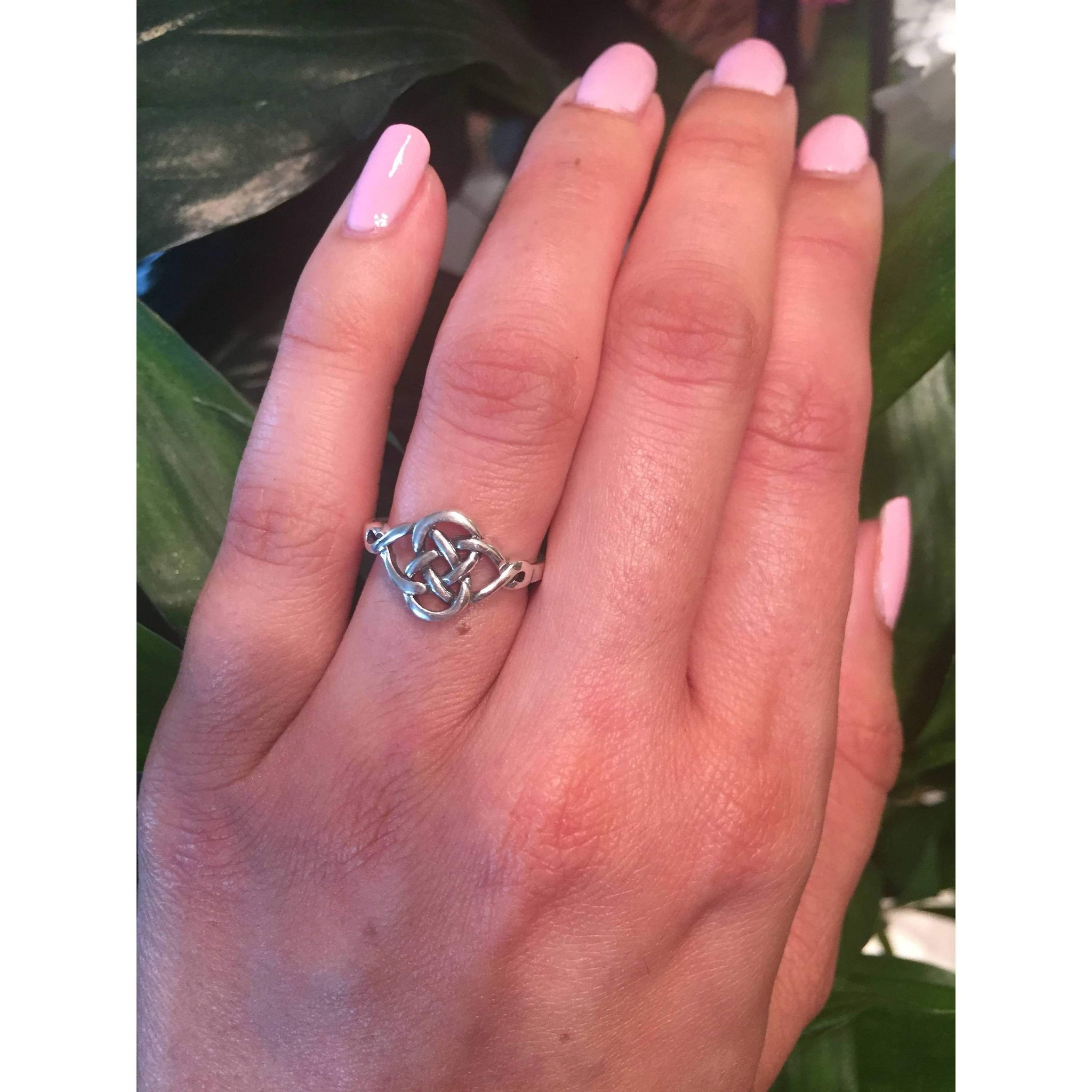 Eternity Celtic Knot Ring, Sterling Silver – Journeys Jewelry
