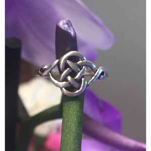 Eternity Celtic Knot Ring - Sterling Silver