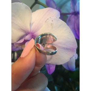 Sterling Silver Vintage Victorian Spoon Ring