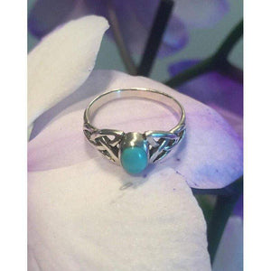 Turquoise Celtic Knot Promise Ring