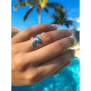 Wave Ring-Blue Opal Ring