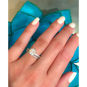 Classic Diamond Engagement Ring Set - 2 Carat Ring