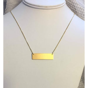 Love Necklace,Love Plaque -Gold Love Plaque necklace,Brushed gold necklace