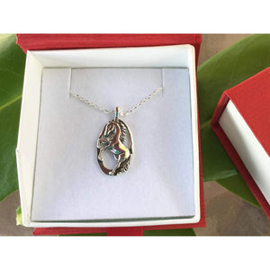 Sterling Silver Horse Necklace - Equestrian Jewelry