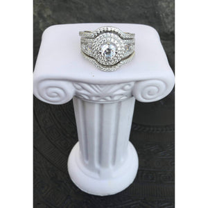3 Piece Art Deco Wedding Engagement Set