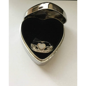 Trinket box, Heart shaped box ,Jewelry Box, Initial box