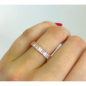 Rose Gold Baguette Eternity Band