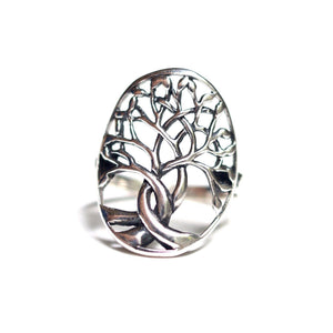 Tree of Life Ring Set in Sterling Silver or Rose Gold