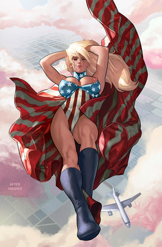 Patriotika #1 Hughes JSA Classified Homage Variants