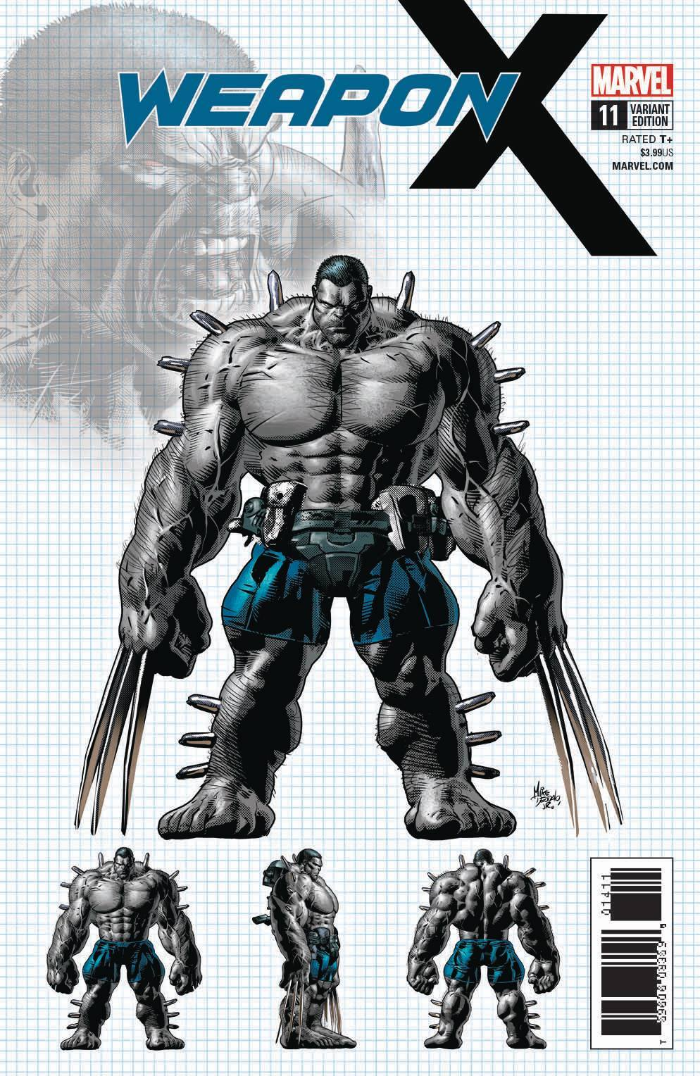 Weapon X #11 1:25 Mike Deodato Cover - WEAPON H!