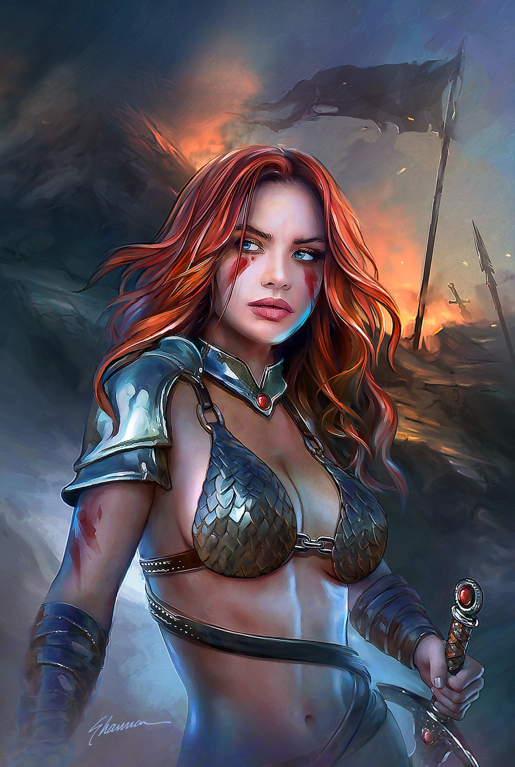 Red Sonja: Birth of the She Devil #1 Shannon Maer Virgin Variant