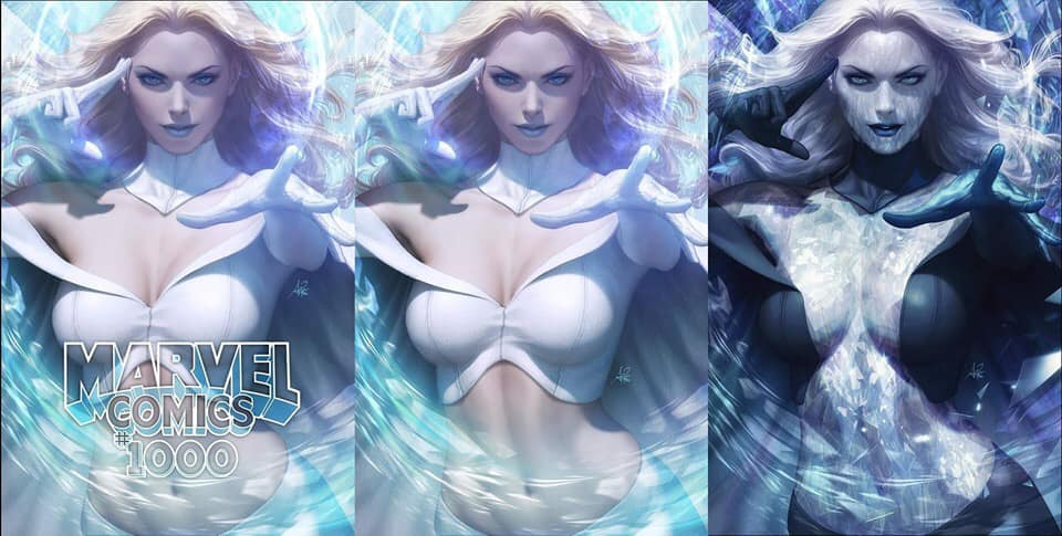 Marvel Comics #1000 Artgerm 3 Book Set