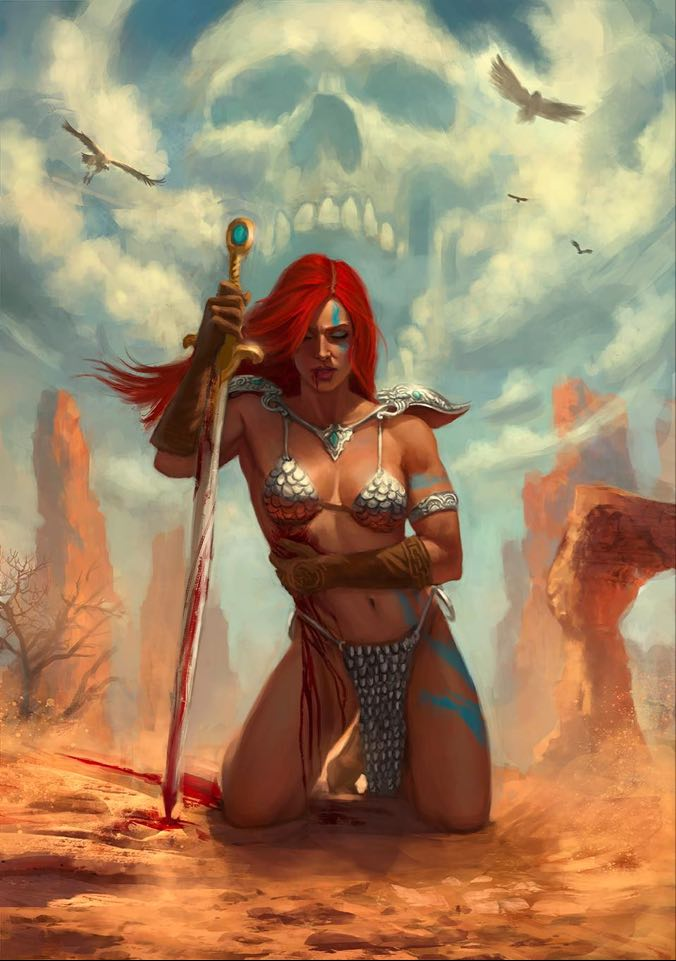 Killing Red Sonja #1 Bartling Virgin Variant