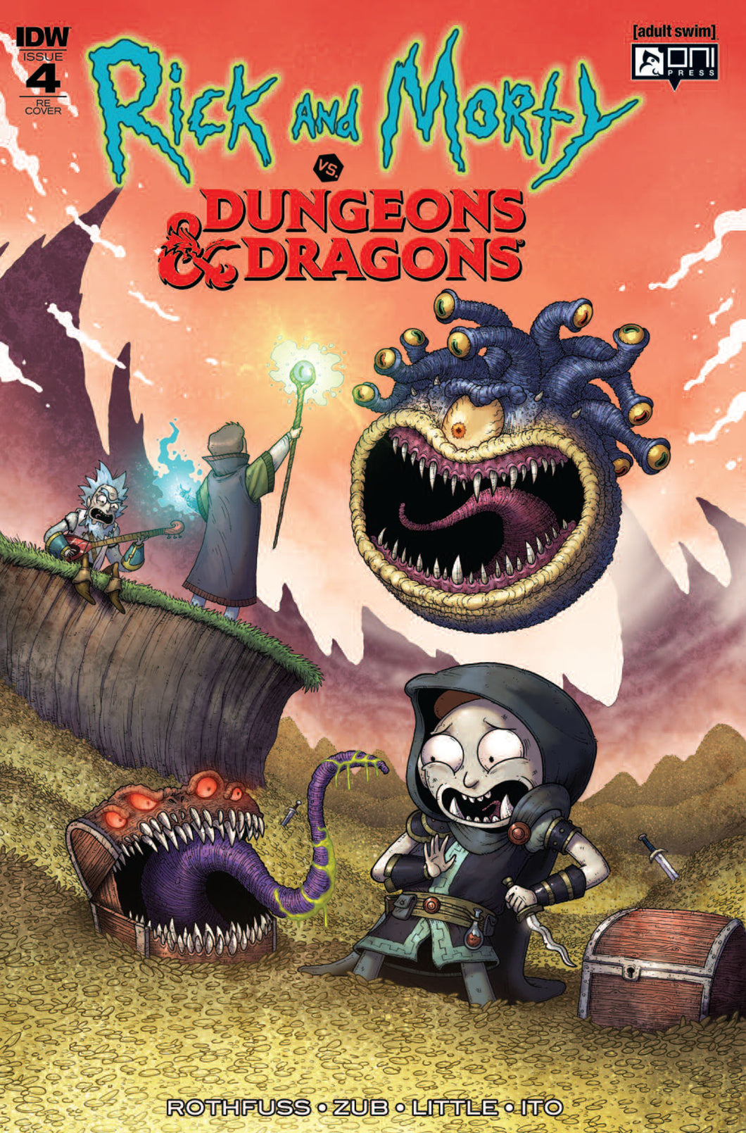 Rick & Morty vs Dungeons & Dragons #4 Mike Vasquez Exclusive - LTD 500