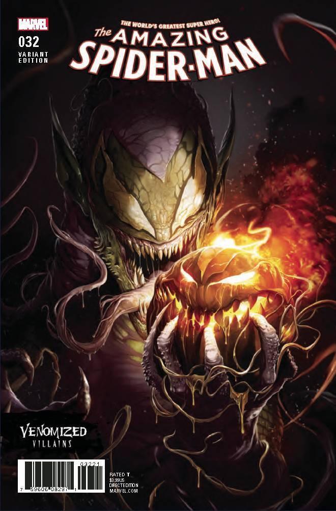 Amazing Spider-Man 32 Francesco Mattina Venomized Green Goblin