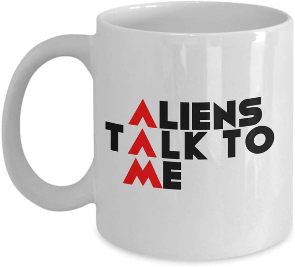 Aliens Talk to me Science Fiction Story Theories Coffee Mug Gift Souvenir Ideas Teaware Tea Cup Hot Drinks Cafe 26/30 Joed