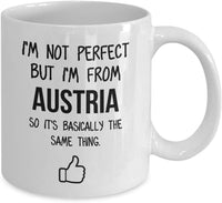 Austria Mug Country Hometown Gift For Friends Dad Home Country Mug Wife Gift Husband Coffee Mug -15oz