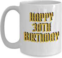 Happy 30th Birthday Mother Father Aunt Sister Brother Gift Ideas Present Coffee Mug Teaware Tea Cup cafe 23/12